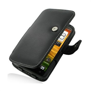 HTC One X, One X+ PDair Leather Case - Black