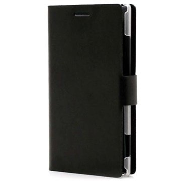 Nokia Lumia 925 Doormoon Wallet Leather Case - Black