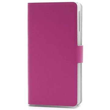 Sony Xperia V Doormoon Wallet Leather Case - Hot Pink