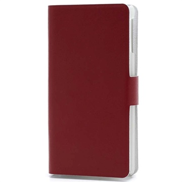 Sony Xperia V Doormoon Wallet Leather Case - Red