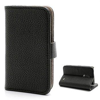 Nokia Lumia 620 Wallet Leather Case - Black