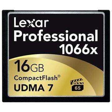 Lexar LCF16GCRBEU1066 Professional 1066x Compact Flash Memory Card - 16GB
