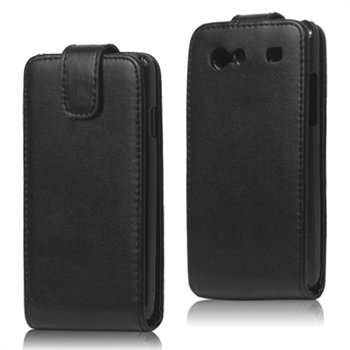 Samsung I9070 Galaxy S Advance Vertical Leather Flip Case - Black