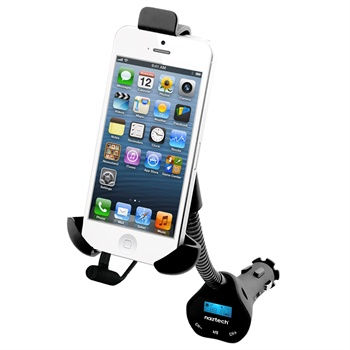Naztech N3050 FM Transmitter & Car Holder - iPhone 6, iPhone 5S, HTC One X