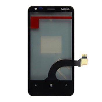 Nokia Lumia 620 Front Cover - Black