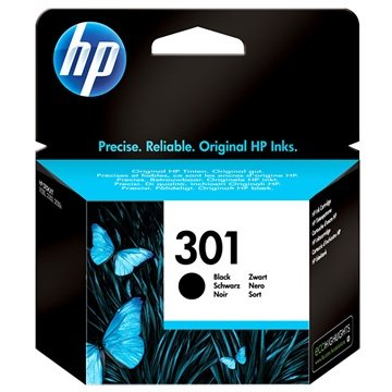 HP 301 Ink Cartridge - Deskjet 1000, 2540 AiO, Officejet 2620 AiO - Black