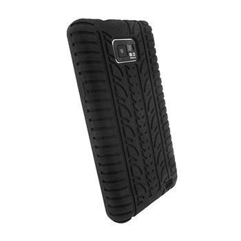 Samsung Galaxy S2 i9100 iGadgitz Tyre Tread Silicone Case - Black