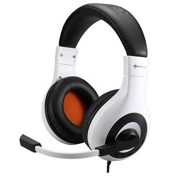 Sharkoon Rush Core Stereo Gaming Headset - Black / White
