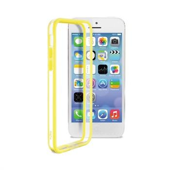 IPhone 5C Puro Bumper - Transparent / Yellow