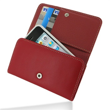 iPhone 4 / 4S PDair Wallet Leather Case - Red