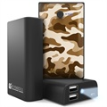 Beyond Cell Universal Dual USB Power Bank - Desert Storm Camouflage / Black