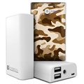 Beyond Cell Universal Dual USB Power Bank - Desert Storm Camouflage / White