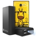 Beyond Cell Universal Dual USB Power Bank - Giraffe / Black