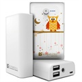 Beyond Cell Universal Dual USB Power Bank - Twinkle Stars / White