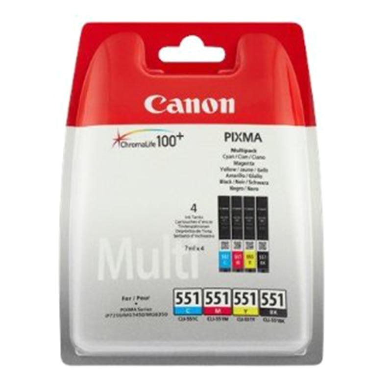 canon pixma 551 inkjet cartridge multipack mg 7150 cyan magenta yellow black. Black Bedroom Furniture Sets. Home Design Ideas