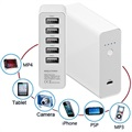 Goobay Universal 5 USB-Port Power Bank - White