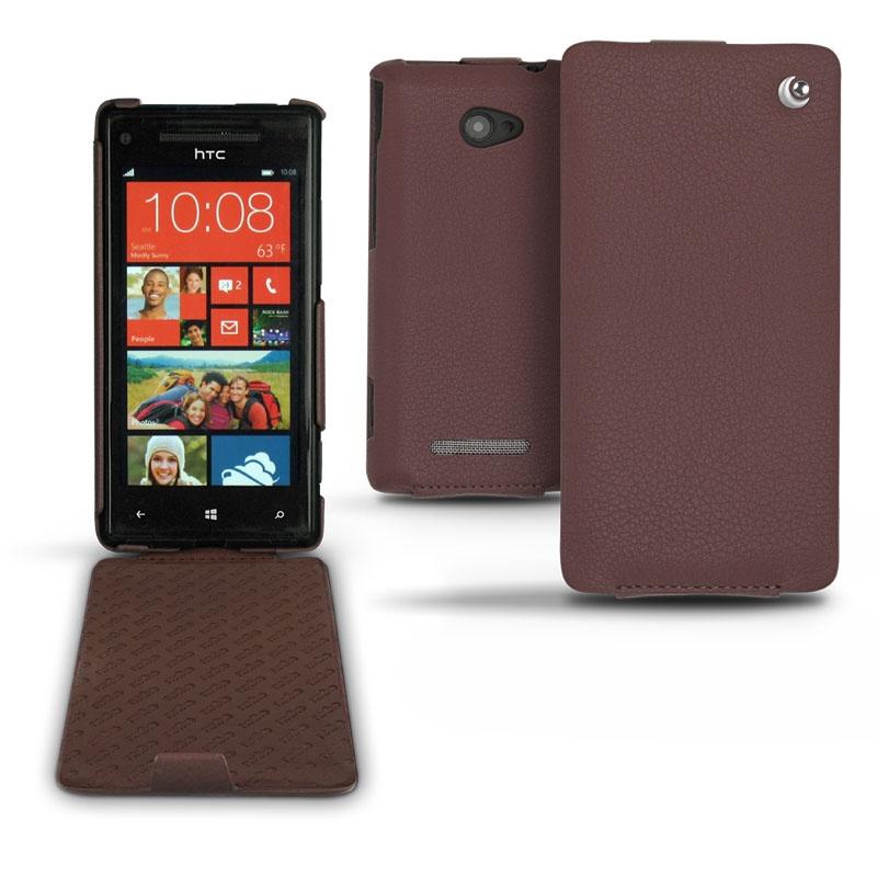 Case Design windows 8x phone cases : HTC Windows Phone 8X Noreve Flip Leather Case - Chestnut