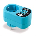 Ksix Dual USB Travel Charger - Blue - 3.1A