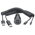 Nokia DC-20 Dual Car Charger - MicroUSB / 2mm