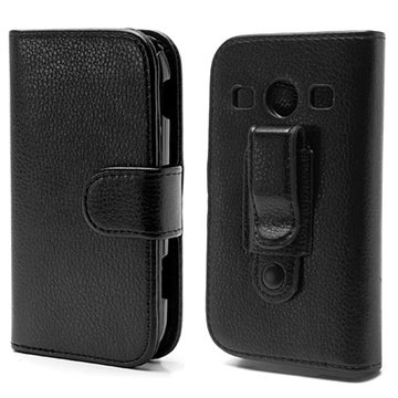 Samsung S7710 Galaxy Xcover 2 Wallet Leather Case - Black