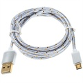 Premium USB 2.0 / MicroUSB Cable - Silver