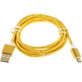 Premium USB 2.0 / MicroUSB Cable - Yellow