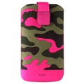 Puro Camou Universal Pull Tab Case - L - Camouflage - Pink