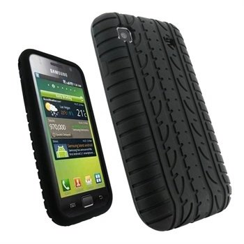 Samsung Galaxy S iGadgitz Tyre Tread Design Silicone Case - Black