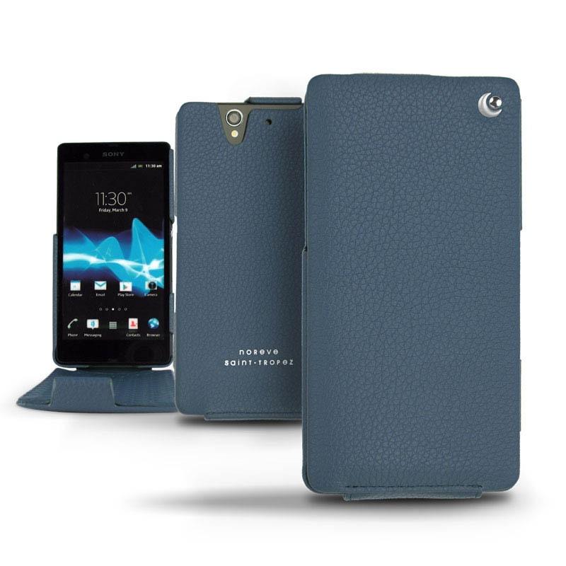 Sony Xperia Z Noreve Tradition Flip Leather Case - IndigoXperia Z Phone Case