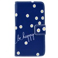 Huawei Ascend Y300 Wallet Leather Case - Be Happy