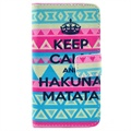 Huawei Ascend Y300 Wallet Leather Case - Hakuna Matata