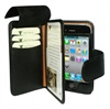 iPhone 4 / 4S Piel Frama Wallet Leather Case - Black