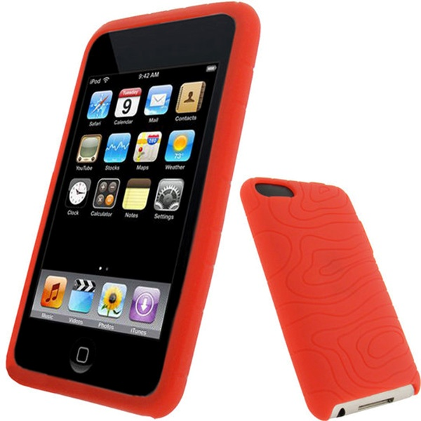 ipod touch 2g touch 3g igadgitz silicone case red. Black Bedroom Furniture Sets. Home Design Ideas